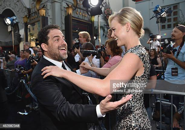 Director Brett Ratner and actress Ingrid Bolso Berdal attend the premiere of Paramount Pictures' 'Hercules' at TCL Chinese Theatre on July 23 2014 in...