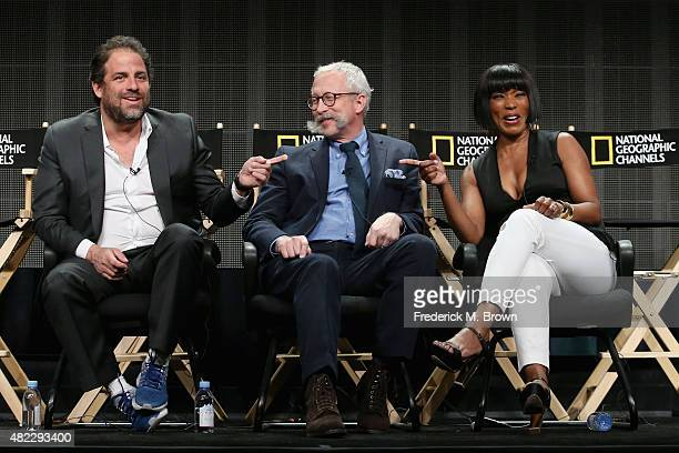 Director Brett Ratner executive producer Kurt Sayenga and director Angela Bassett speak onstage during the 'Breakthrough' panel discussion at the...