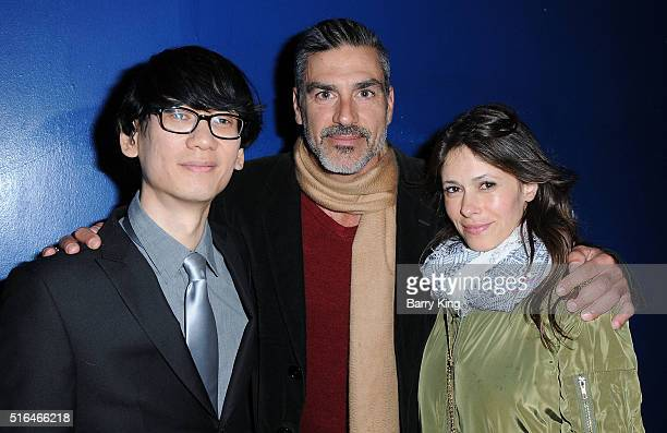Director Brian A Metcalf actor Eric Etebari and Angela Gots attend the premiere of Red Compass Media's 'The Lost Tree' at Laemmle NoHo 7 on March 18...