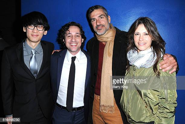 Director Brian A Metcalf actor/singer Thomas Ian Nicholas actor Eric Etebari and Angela Gots attend the premiere of Red Compass Media's 'The Lost...