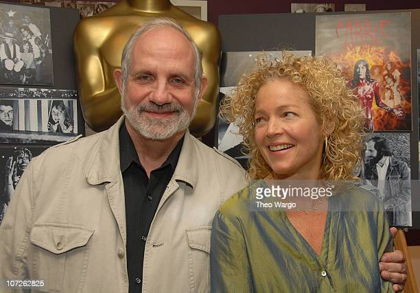 Director Brian De Palma and Actress Amy Irving attend Monday Nights With Oscar Presents Carrie Reunion at The Academy Theatre in New York City on...