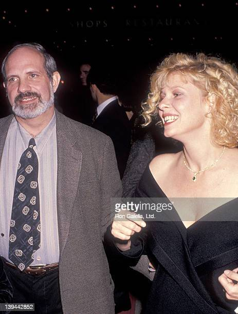 Director Brian De Palma and actress Kate Capshaw attend the Steel Magnolias Century City Premiere on November 9 1989 at Cineplex Odeon Century Plaza...