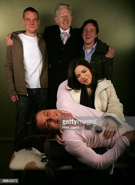 Director Brian Jun actors Clayne Crawford Raymond J Barry America Ferrera and Tom Guiry pose for a portrait at the Getty Images Portrait Studio...