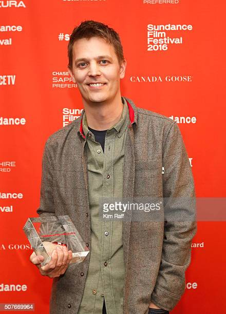 Director Brian Oakes accepts Audience Award US Documentary for the film Jim The James Foley Story at the Sundance Film Festival Awards Ceremony...