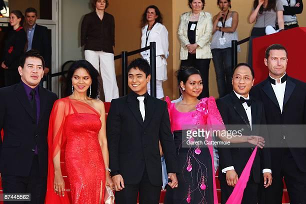 Director Brillante Mendoza actress Maria Isabel Lopez actor Coco Martin actress Mercedes Cabral and producers Ferdinand Lapuz and Didier Costet...