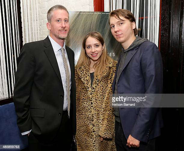 Director Brin Hill actress Zoe Kazan and actor Paul Dano attend the Official After Party for 'In Your Eyes' starring Zoe Kazan And Nikki Reed...