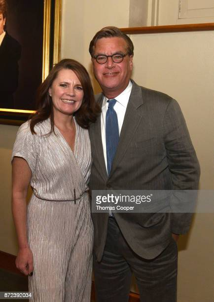 Director Britta Erickson and writer/director Aaron Sorkin attend a screeening and discussion of 'Molly's Game' at the 40th annual Denver Film...