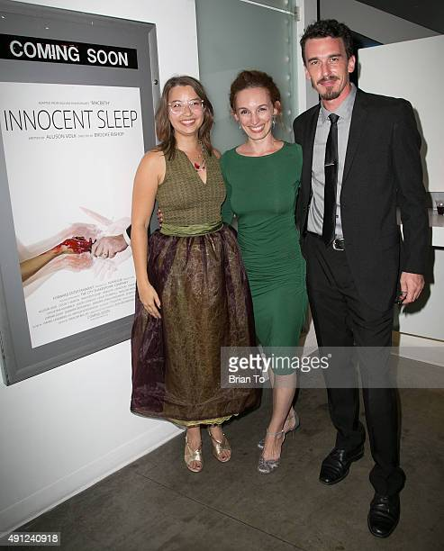 Director Brooke Bishop actress Allison Volk and actor Colin Martin attend 'Innocent Sleep' Los Angeles Premiere at Downtown Independent Theater on...