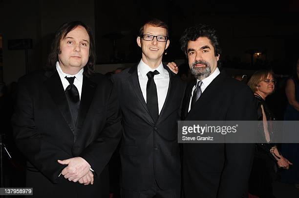 Director Bruce Sinofsky, documentary subject Jason Baldwin and director Joe Berlinger arrive at the 64th Annual Directors Guild Of America Awards at...