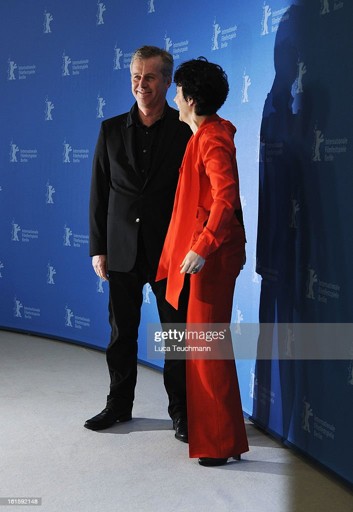 Director Bruno Dumont and actress Juliette Binoche attend the 'Camille Claudel 1915' Photocall during the 63rd Berlinale International Film Festival at the Grand Hyatt Hotel on February 12, 2013 in Berlin, Germany.