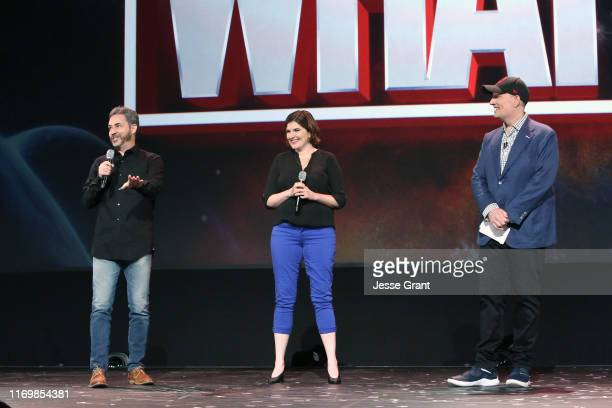 Director Bryan Andrews and Head writer A.C. Bradley of 'What If...?' and President of Marvel Studios Kevin Feige took part today in the Disney+...