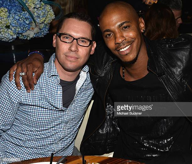 Director Bryan Singer and actor Mehcad Brooks attend the STK Los Angeles 6th Anniversary Party at STK on June 4 2014 in Los Angeles California