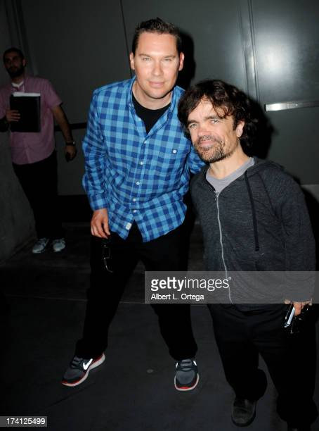 Director Bryan Singer and actor Peter Dinklage appear at the 20th Century Fox XMen Days of Future Past panel during ComicCon International 2013 at...