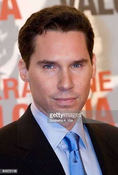 Director Bryan Singer attends Valkyrie premiere at Conciliazione Auditorium on January 28 2009 in Rome Italy