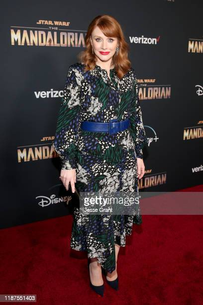 Director Bryce Dallas Howard arrives at the premiere of Lucasfilm's firstever liveaction series The Mandalorian at the El Capitan Theatre in...