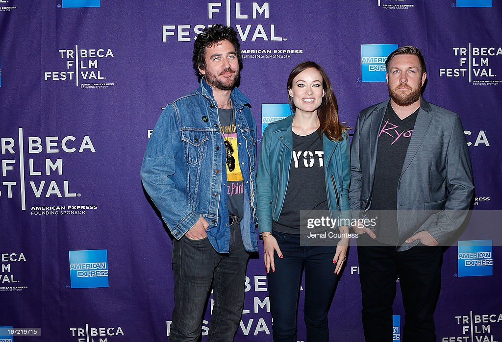 Director Bryn Mooser, producer Olivia Wilde and director David Darg attend 'The Rider And The Storm' Screening during the Shorts Program at the 2013 Tribeca Film Festival on April 22, 2013 in New York City.