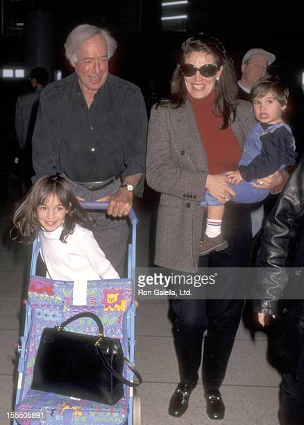 Director Bud Yorkin actress Cynthia Sikes and their kids on October 3 1996 arrive at the Los Angeles International Airport in Los Angeles California