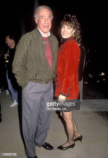 Director Bud Yorkin and actress Cynthia Sikes on March 8 1991 dine at Asylum Restaurant in Beverly Hills California