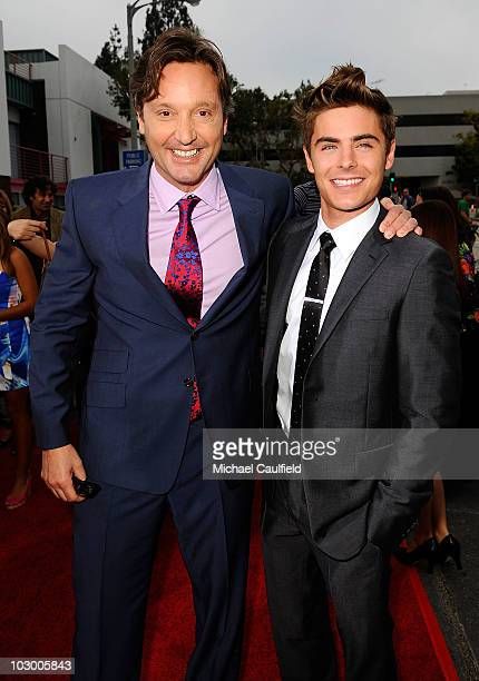 Director Burr Steers and Zac Efron arrive at the premiere of Universal Pictures' Charlie St Cloud held at the Regency Village Theatre on July 20 2010...