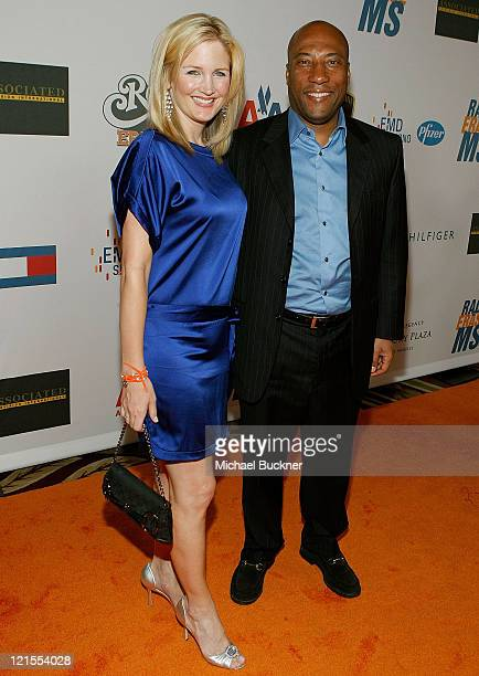 Director Byron Allen and wife Jennifer Lucas arrives at the 16th Annual Race to Erase MS event cochaired by Nancy Davis and Tommy Hilfiger at Hyatt...