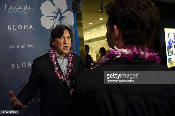 Director Cameron Crowe attends the New York screening of 'Aloha' at the Sony Screening Room on May 20 2015 in New York City