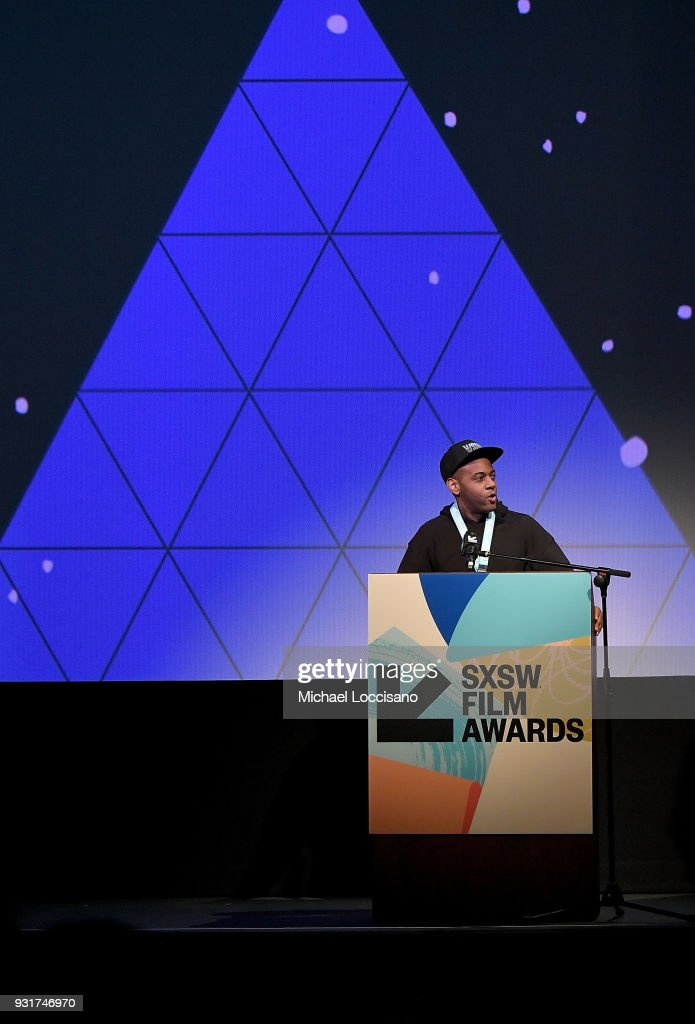 Director Carey Williams accepts the Narrative Shorts award for 'Emergency' at the SXSW Film Awards show during the 2018 SXSW Conference and Festivals at Paramount Theatre on March 13, 2018 in Austin, Texas.