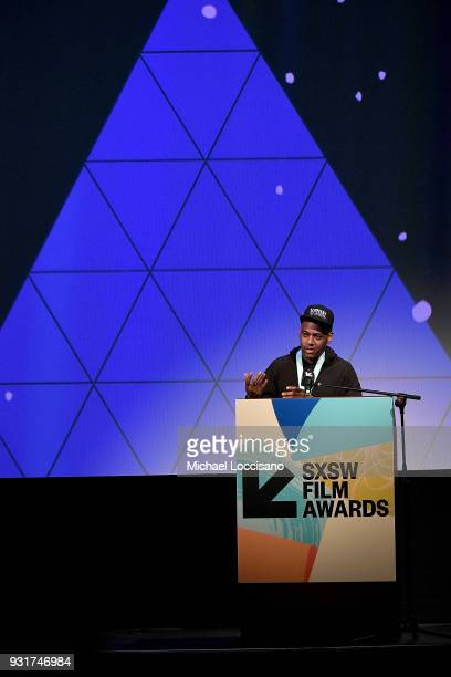 Director Carey Williams accepts the Narrative Shorts award for 'Emergency' at the SXSW Film Awards show during the 2018 SXSW Conference and Festivals...