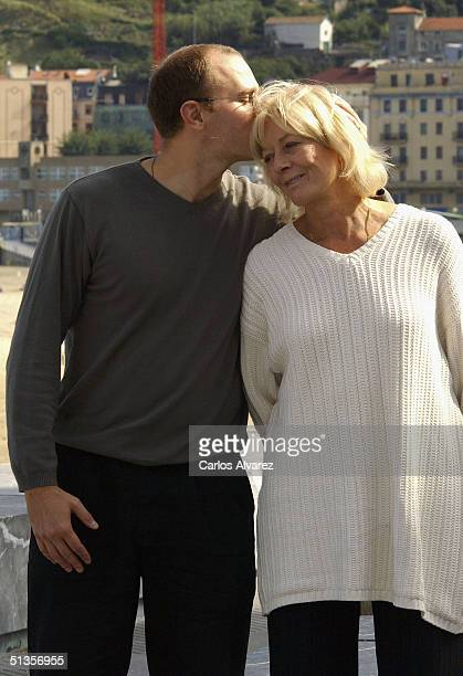 """Director Carlo Gabriel Nero kisses his mother, actress Vanessa Redgrave, at the photo call for their movie """"The Fever"""" on the ninth day of the 52nd..."""