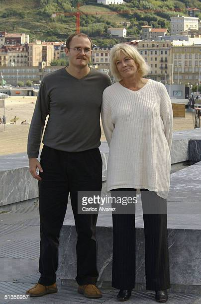 """Director Carlo Gabriel Nero poses with his mother, actress Vanessa Redgrave, at the photo call for their movie """"The Fever"""" on the ninth day of the..."""
