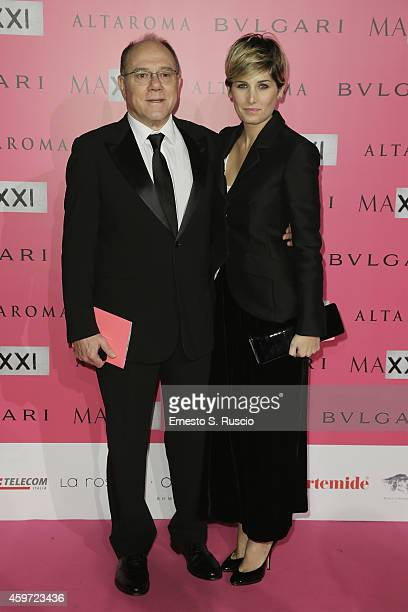 Director Carlo Verdone and Giulia Verdone attend the MAXXI Gala Dinner photocall at Maxxi Museum on November 29, 2014 in Rome, Italy.