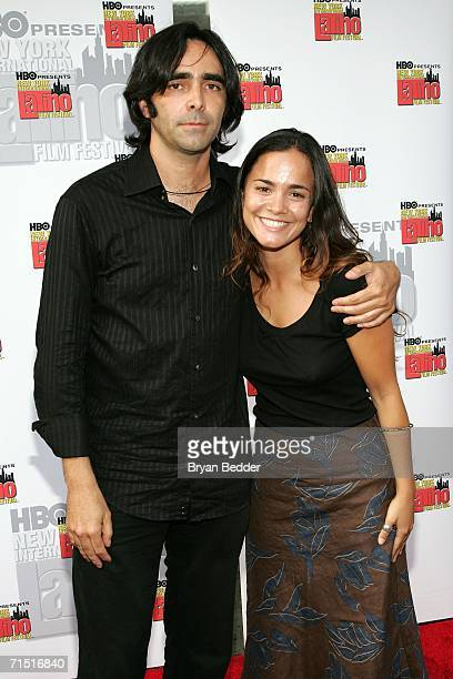 Director Carlos Bolado and actress Alicia Braga arrive at the premiere of 'Solos Dios Sabe' during the New York International Latino Film Festival on...