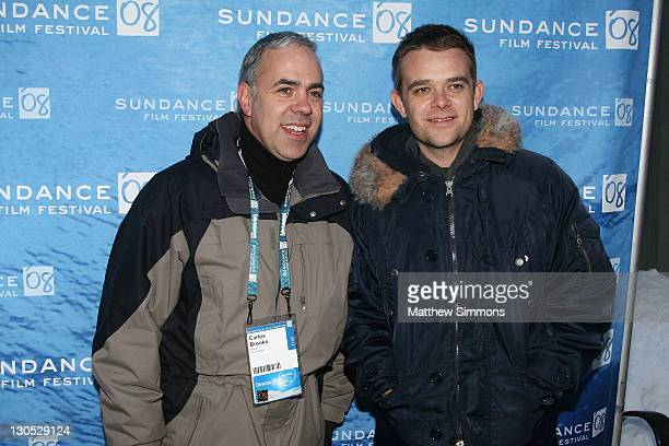 Director Carlos Brooks and actor Nick Stahl attend a screening of Quid Pro Quo at the Library Theatre during the 2008 Sundance Film Festival on...