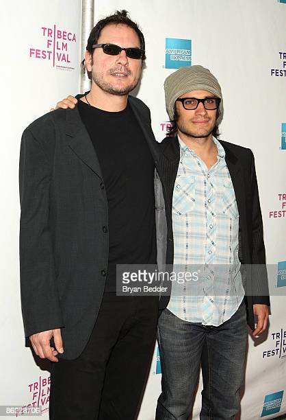 Director Carlos Cuaron and actor Gael Garcia Bernal attend the premiere of Rudo Y Cursi during the 2009 Tribeca Film Festival at AMC Village VII on...