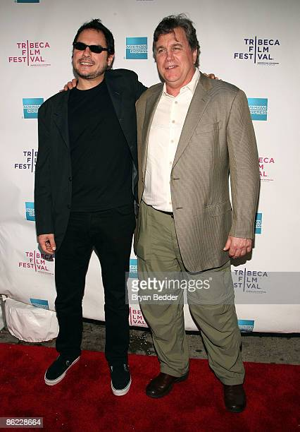 Director Carlos Cuaron and Sony Pictures Classics president Tom Bernard attend the premiere of Rudo Y Cursi during the 2009 Tribeca Film Festival at...