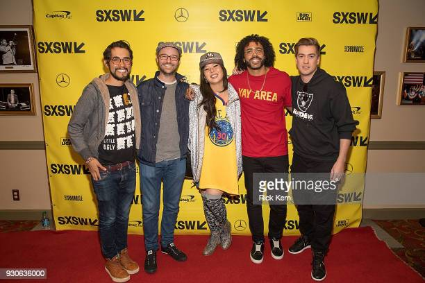 Director Carlos Lopez Estrada producers Keith and Jess Calder writer/actor Daveed Diggs and writer/actor Rafael Casal attend the premiere of...