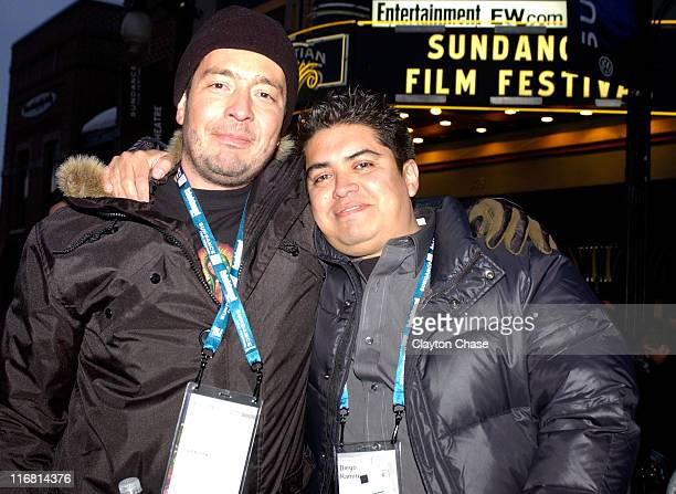 Director Carlos Moreno and Producer Diego Ramirez attend a screening of Perro Come Perro during the 2008 Sundance Film Festival at the Egyptian...