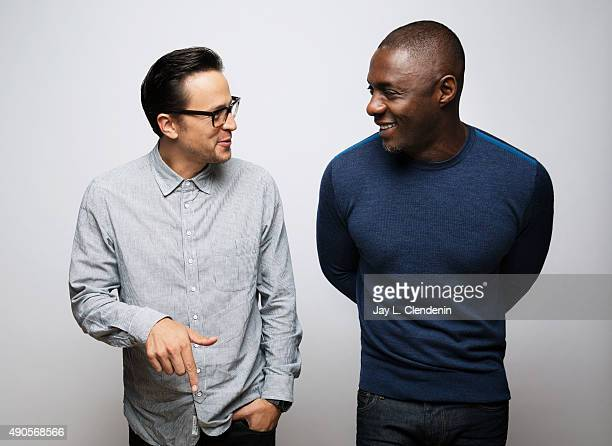 Director Cary Fukunaga and Actor Idris Elba from the film 'Beasts of No Nation' are photographed for Los Angeles Times on September 25 2015 in...