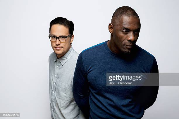Director Cary Fukunaga and Actor Idris Elba from the film Beasts of No Nation are photographed for Los Angeles Times on September 25 2015 in Toronto...