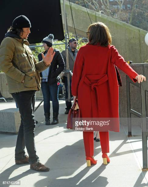 Director Cary Fukunaga and actress Sally Field on the set of the Netflix series 'Maniac' on November 15 2017 in New York City
