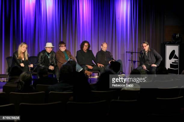 Director Catherine Bainbridge musician Taboo musician Elliot Easton executive producer Stevie Salas and musician Wayne KramerÊspeak with GRAMMY...