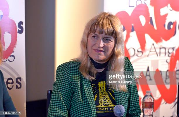 """Director Catherine Hardwicke speaks at a Q&A session at a screening of Donahue's documentary """"This Changes Everything"""" on July 25, 2019 in Los..."""