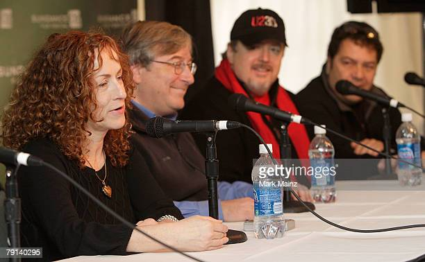 Director Catherine Owens executive producer Sandy Climan producer John Modell speak during the U2 3D panel discussion at the Sundance Film Festival...