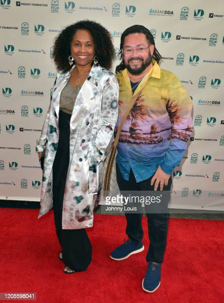 Director Cathleen Dean and Cinematographer Serge Dorsainvil from short film 'Being' are seen during 37th Annual Miami Film Festival presented by...