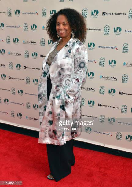 Director Cathleen Dean of short film 'Being' is seen during 37th Annual Miami Film Festival presented by Miami Dade College opening night at Olympia...