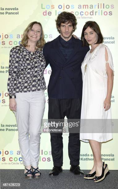 Director Cecile Telerman and actors Quim Gutierrez Emmanuelle Beart attend a photocall for 'Los Ojos Amarillos de los Cocodrilos' at the Santo Mauro...