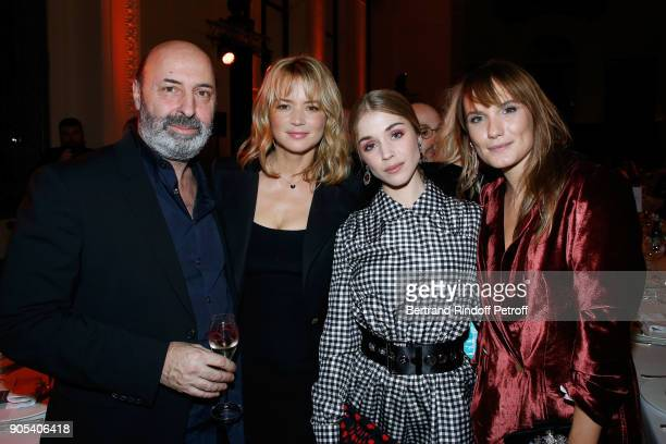 Director Cedric Klapisch actress Virginie Efira Alice Isaaz and Ana Girardot attend the 'Cesar Revelations 2018' Party at Le Petit Palais on January...