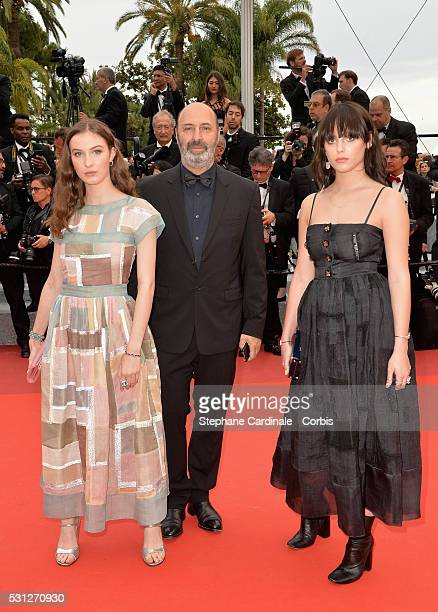 Director Cedric Klapisch his daughter Thais Klapisch and guest attend the 'Slack Bay ' premiere during the 69th annual Cannes Film Festival at the...