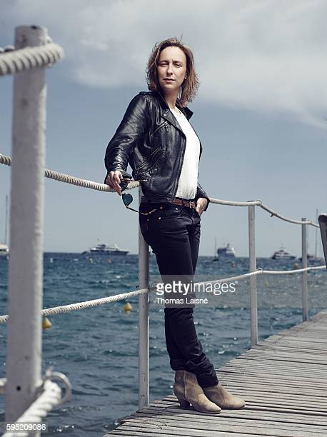 Director Celine Sciamma is photographed for Self Assignment on May 23 2014 in Cannes France