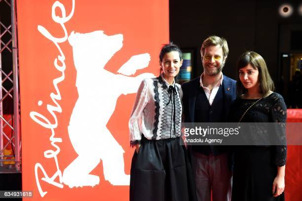 Director Ceylan Ozgun Ozcelik Actress Algi Eke and Actor Ozgur Cevik attend the red carpet of 'Kaygi / Inflame' during the 67th Berlinale...
