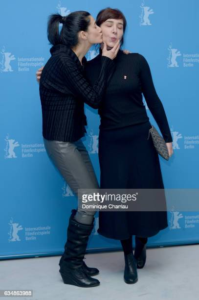 Director Ceylan Ozgun Ozcelik and actress Algi Eke attend the 'Inflame' photo call during the 67th Berlinale International Film Festival Berlin at...